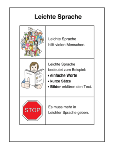 Leichte Sprache Beispiele