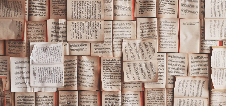 Viele Bücher und Seiten