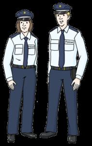 Grafik: 2 Polizisten