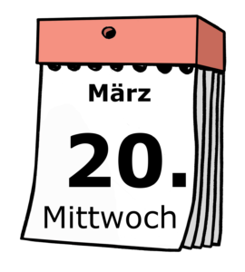 Kalender: Mittwoch, 20. März