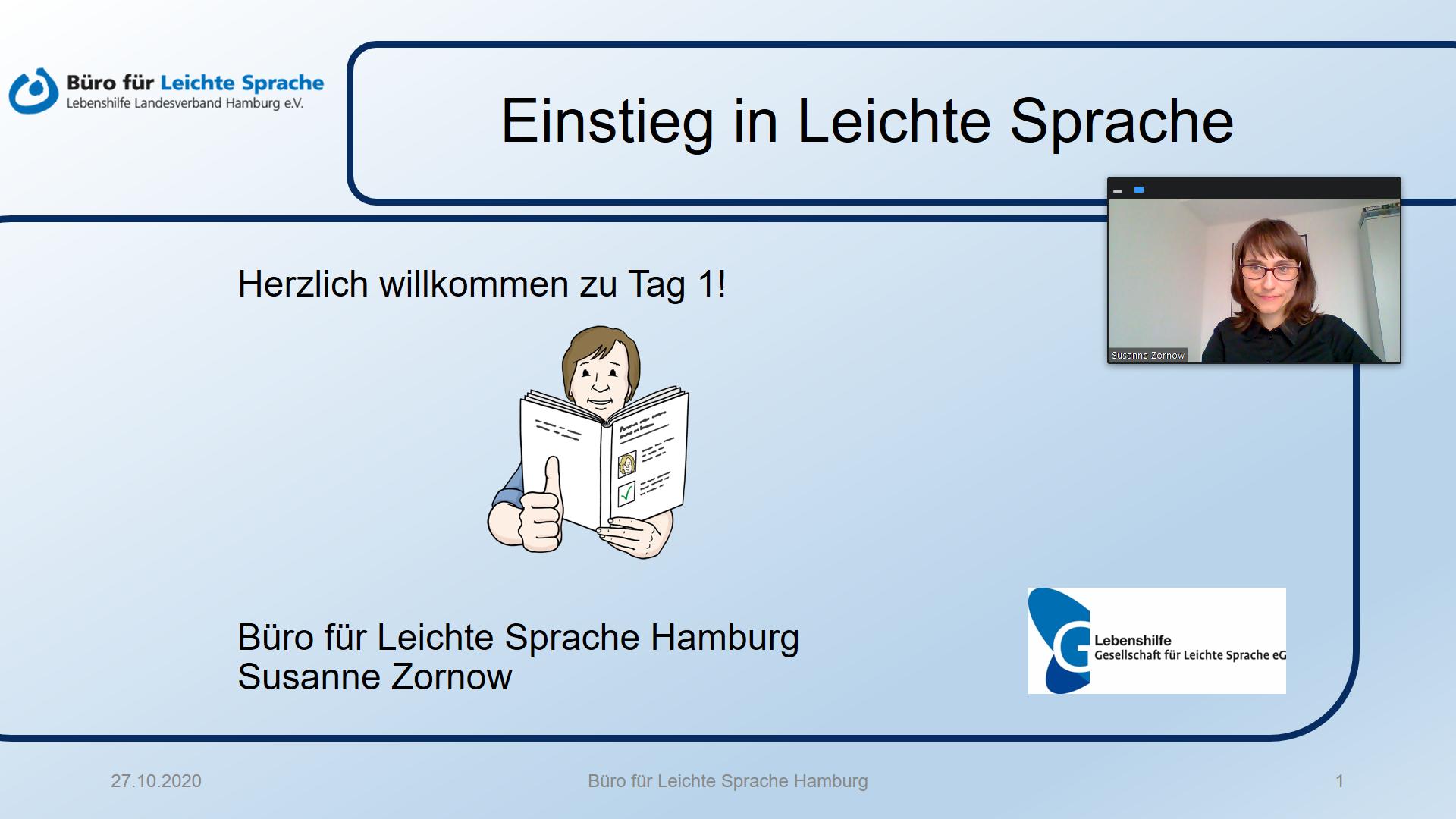 Bildschirmfoto: Präsentation mit Sprechervideo